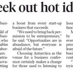 Entrepreneurs seek out hot ideas in Antartica