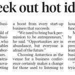Entrepreneurs seek out hot ideas in Antartica